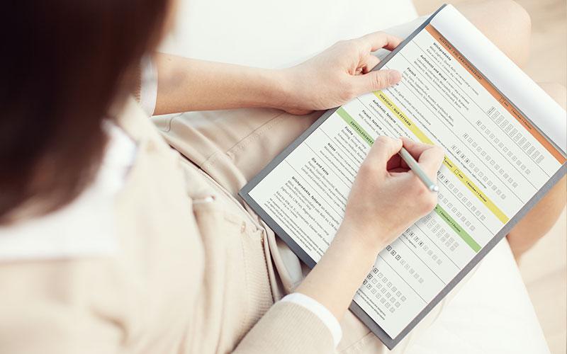 Kontrollbogen für die Ernährung bei Rheuma